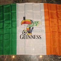 Ireland Irish Guinness Guiness Beer Flag 3x5FT banner 100D 150X90CM Polyester brass grommets custom66, Free Shipping