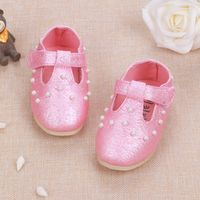 size 14-18 new 2016 spring and autumn fashion pearl single shoes baby soft outsole princess shoes toddler shoes