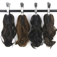 Soowee Wavy Synthetic High Temperature Fiber Hair Claw Ponytail Little Hair Pony Tail Clip in Hair Extensions Hairpiece