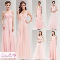 Ever-Pretty Peachy Pink Long Bridesmaid Dresses Dress for