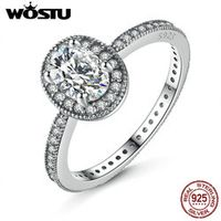 Romantic 925 Sterling Silver Vintage Elegance Ring For Women With Clear CZ Luxury Engagement Ring S925 Fine Jewelry XCH7608