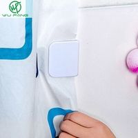 Shower  bathroom Poles Tracks  Accessories buckle viscose dodechedron Wind fixed hook curtain clip Seamless sticky hooks