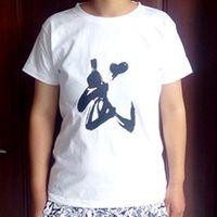 tai chi T shirts  white cotton kung fu tee both men and women  wu word