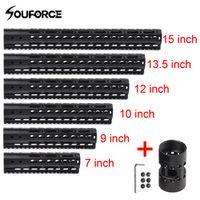 """souforce US 7""""/9""""/10""""/12""""/13.5""""/15"""" KeyMod Float Rail Handguard Forend Barrel Mount"""