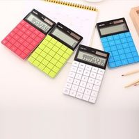 HHD-GJ LCD Display 12 Digit Ultra slim Transparent Solar Calculator for Student