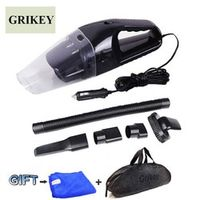 GRIKEY Car Vacuum Cleaner 120W Portable Handheld Wet and Dry Dual Use Car Vacuum