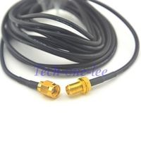 onelinkmore 2 piece /lot 10ft Cable Female SMA Male Plug Antenna Extension Coax