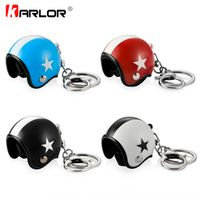 Karlor Creative Motorcycle Safety Helmets Auto Five-star Keychain Pendant Classic