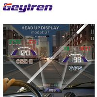 GEYIREN GPS System HUD Head Up Display OBD II Interface Engine Fault Alarm Dynamic