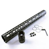 Fyzlcion Black 15'' Length AR15 Float Keymod Handguard Picatinny Rail for Hunting