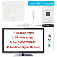 h96 pro Indoor HD Digital TV Antenna with 35 Miles Long Range Amplifier HDTV