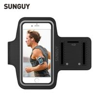 SUNGUY Sports Armband Case for iPhone 5s 6s 6s 7 Plus Bag Running Sports Sleeve Mobile Phone Reflective Bracelet Fitness Armband