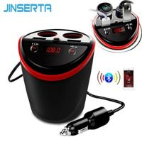 JINSERTA 6-in-1 Wireless Bluetooth Handsfree FM Transmitter Modulator Car Kit