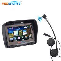 Fodsports 4.3 Inch motorcycle motorbike 256MB 8GB IPX7 GPS navigator waterproof