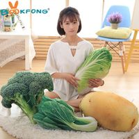 BOOKFONG Kawaii 50Cm Fruits Vegetables Plush Toy Stuffed