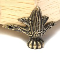 Mayitr 4pcs Brass Leg Corner Protector Antique Jewelry Wood Box Feet 42 x 30mm