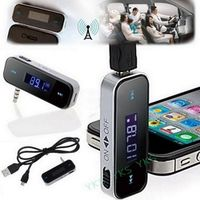 HSC CATUO Wireless 3.5mm Car LCD Display FM Transmitter For iPhone 4S 5S