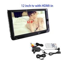 LEADSTAR Portable DVB-T-T2 12.1 Inches Rechargeable Digital Color Television HDMI USB