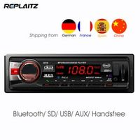 Replaitz 1DIN Bluetooth Car Radio FM Stereo In-dash Digital AUX-IN Hands-free