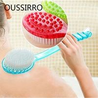 Long Handle Bath Brush Care Massage Brush Skin Cleaning Brush Back Exfoliating Shower Brush Body Friction Clean Bathroom Suite