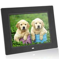 ES STOCK Andoer 8'' Ultrathin HD TFT-LCD Digital Photo Frame Electronic Alarm MP3/4