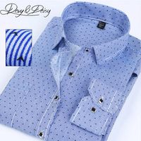 DAVYDAISY Chemise Homme Fashion Shirts Men High Quality Long Sleeve Plaid Printed Casual Shirts Men Business Clothing DS-140