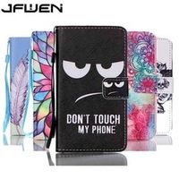 JFWEN Luxury Book Style Flip Wallet PU Leather Painted Phone Cases For Lenovo A536