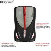 OkeyTech 16 Band Radar Detector Laser Voice Alert Russian English Speed Testing