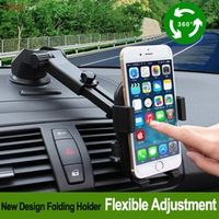 E-FOUR Car Phone Holder 360 Degree Adjustable Windshield Mount GPS Stand Universal