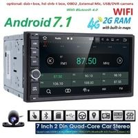 HIZPO 2G 16G Quad Core Android 7.1 car multimedia player gps navigation universal