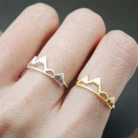 Jisensp New Fashion Adjustable Ring Open Mountain Rings for Women Birthday Gift R171