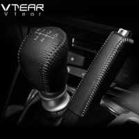 Vtear For Hyundai Solaris 2 Gear Shift Collars Grips Interior car-Styling handbrake