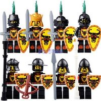 DR.TONG Building Blocks King Medieval Castle Armor Heavy