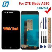 hacrin LCD Touch Screen 100% Digitizer Glass Panel For ZTE Blade A610 Mobile Phone