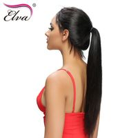 "Elva Hair Straight Lace Front Human Hair Wigs Brazilian Remy Hair Natural Color 10""-26"" Glueless Lace Wigs Pre Plucked Hairline"