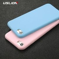 USLION Phone Case For iPhone 7 6 6s 8 X Plus 5 5s SE XR XS Max Simple Solid Color