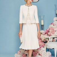 Mother of the Bride Dresses With Jacket Chiffon Wedding Guest Dress Short Groom Mother Dress vestido de la madre de la novia