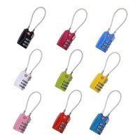 Zinc Alloy Security 3 Digit Combination Travel Suitcase Luggage Bag Code Loop Lock Padlock 9 Colors NG4S