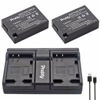 PROBTY 2Pcs LP-E17 LP E17 LPE17 USB Dual Charger For Canon EOS M3 750D 760D Camera