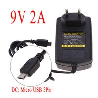 ALLOYSEED EU Plug AC DC 9V 2A 5 Pin Micro USB Power Supply Adapter For PC Windows