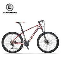EUROBIKE 26 Inches Carbon Fiber Mountain Bikes Dual Hydraulic Disc Brake Shock Fork