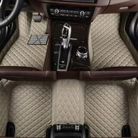 Flash mat leather car floor mats for Tesla all models S X car styling