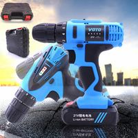 Slite 21V Cordless Electric Drill Two-Speed Screwdrivers Lithium Battery Power tools