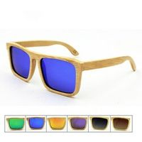 New Arrival Retro Bamboo Sunglasses Men Wooden Sun Glasses Women Handmade Mirror Original Wood Bamboo Polarized Sunglasses