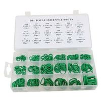 High Quality 270Pcs 18 Sizes O-ring Kit Green Metric O ring Seals Nitrile Rubber