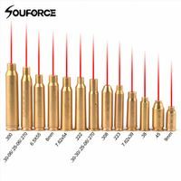 souforce Red Dot Laser Brass Boresight CAL Cartridge Bore Sighter For Scope Hunting