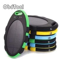 ObdTool Waterproof Solar Power Bank 5000mAh Portable Travel Enternal Battery