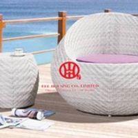 rattan outdoor poolside wicker plastic sunbed