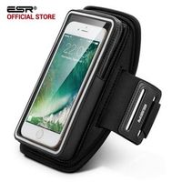 """Armband for iPhone 7 , ESR Waterproof Gym Sports Running Hiking ArmBand 5 inches Pouch Touch Case Cover Holder for 5"""" phone"""