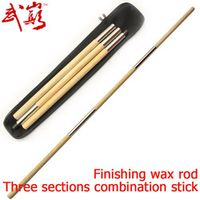Kung fu stick  three sections combination stick  Splicing shaolin finishing wax rod  send bag